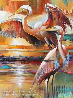 Abstract Animal Art, Tropical Bird Art, Artist Tim Parker — Gallery Naples FL - Contemporary Fine Art Prints & Modern Abstract Artwork by Southwest FL Artist Timothy Parker Art Tropical, Tropical Birds, Modern Tropical, Modern Art Prints, Fine Art Prints, Modern Artwork, Art Koi, Art Moderne, Art Abstrait