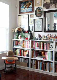 love these classic gorgeous bookshelves. perfect for home library inspiration.
