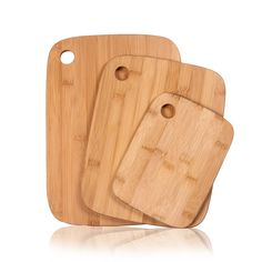 Adeco 3-piece 100-percent 0.4-inch Thick Chopping Board Set