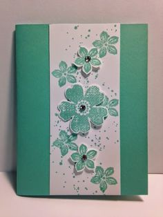 Today I am going to share with you another card I made at Terri 's Stamp a Stack. I love the Flower Shop set. And what could make a Flow...