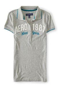cb9366da Aeropostale Womens 1987 New York Polo Shirt at Amazon Women's Clothing store :
