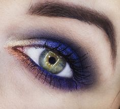 Vibrant 'Royal Blue' look by Candy Killer using Makeup Geek's Caitlin Rose, Center Stage, Flame Thrower, and Magic Act Foiled Eyeshadows.