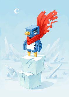 Super Penguin Art Print