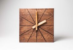 Minimal clocks – a perfect gift idea for minimalists. Minimal home design, wall decoration, simple and elegant, wooden clock – a unique product by IdealWoodnet via en.dawanda.com