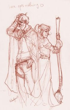 harry and ginny by burdge bug, harry potter Fanart Harry Potter, Harry Potter Drawings, Harry Potter Love, Harry Potter Fandom, Harry Potter Universal, Harry Potter World, Ginny Weasley, Harry Et Ginny, Geeks