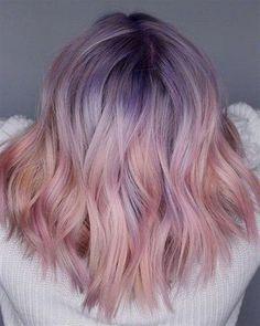 Cute Hair Colors, Hair Color Purple, Hair Dye Colors, Cool Hair Color, Unicorn Hair Color, Lavender Hair Colors, Hair Colour Ideas, Green Hair, Spring Hair Colors