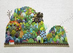 Magical embroidery by Kimika Hara http://harakimi.web.fc2.com/gallery1.html