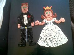 hamma bead bride and groom made by Grace