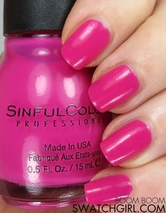Sinful Colors Boom Boom nail polish Long Painting, Sinful Colors, Beauty Review, Smell Good, Love Nails, Face And Body, Swatch, Nail Polish, Boom Boom