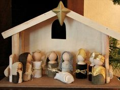 Wooden Doll Nativity         nativity doll tutorial    Here's another fabulous nativity set I want to share with you today…     DIY Wooden Doll Nativity