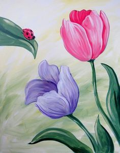 Image result for paint night paintings flower