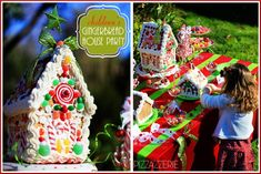 Decorate gingerbread houses (I make my family do this...willing and the not so willing each year!!), then I take a picture of all of the houses grouped together, and make a christmas card each year