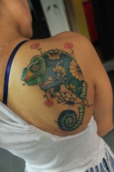 chameleon tatttoo