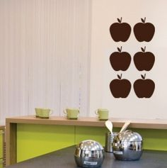 CoolWallArt.com: Wall Decal Apples, $25.95