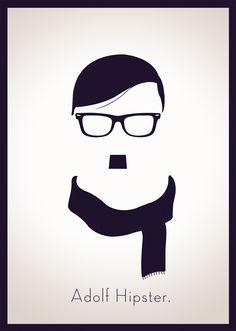 Adolf Hitler poster by Simen Meyer | #poster #hitler #hipster