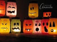 Transformez de vieux pots en verre en lanternes d'Halloween terrifiantes !