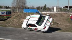 Crazy Italian Car Stunts : on Two Wheels - Funny Video