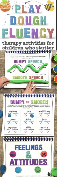 Stuttering therapy made fun! Fluency Activities, Speech Therapy Activities, Speech Language Pathology, Speech And Language, Speech Room, Early Intervention, Play Doh, Therapy Ideas, Clinic