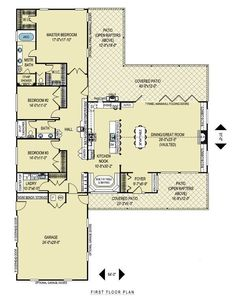 L Shaped Ranch House Plans - House Plans Ideas 2015...would take out middle…