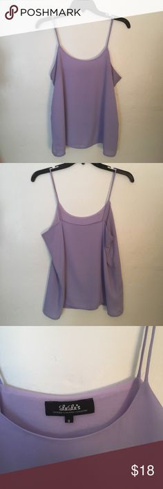 Lilac 💜💜💜 Tank Top! size small, lilac tank top worn only once! it is a chevron like material and is perfect for spring!! brand is Lulu's, marked nastygal for exposure.    💞20% off bundles of 2+ !!!💞 ❌no trades!🚫 ❕feel free to make an offer❕ Please ask any questions in a comment below Nasty Gal Tops Tank Tops