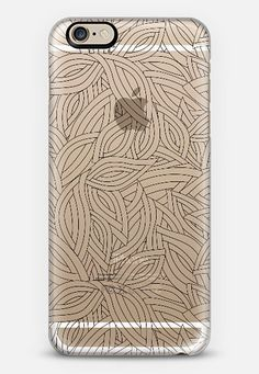 black deco leaves iPhone 6 case by Julia Grifol Diseñadora Modas-grafica | Casetify, black #deco #leaves #pattern #transparent #iphone #smart #case #casetify