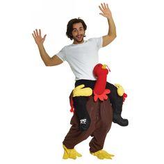 Turkey Trot Piggyback Costume Adult