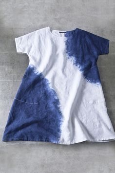 Asiatica - Linen tie-dyed simple tunic
