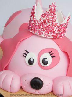 Pink dog cake - Roundhouse Cakes