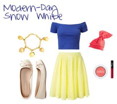 """""""Modern-Day Snow White"""" by hipstermermaid134 on Polyvore featuring Aéropostale, Oscar de la Renta, Bare Escentuals, NARS Cosmetics, P.A.R.O.S.H. and modern"""