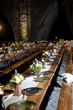 REAL WEDDING PHOTO: guest tables at night. #wedding #lighting #princessbride. Venue: Saratoga Springs