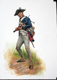 American Revolution: This is a study of the a private of the Brunswick Light Infantry Battalion Von Barner as he would have appeared during the Saratoga campaign of 1777 Don Troiani Historical Artist