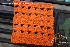 Ponto de Crochê Fantasia - 5 - Receita de Croche com o Passo a Passo no Link http://www.aprendendocroche.com/receitas-de-croche/video-aula.asp?resid=1477&tree=2