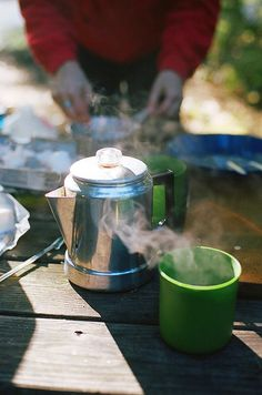 Nothing beats hot camp coffee in early morning