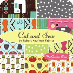 Cut and Sew Fat Quarter Bundle /  Robert Kaufman Fabrics