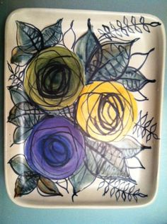 laila zink - Google Search Ceramic Plates, Ceramic Pottery, Pottery Art, Vintage Tv Trays, Lassi, Art Studios, Scandinavian Design, Serving Trays, Salad Plates