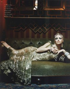 Amelia Heinle Christian Dior Haute Couture A/W 1999/2000 for In Style, November 1999.
