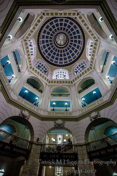 Port of Liverpool Building Atrium 1 Liverpool History, Atrium, Mansions, Architecture, House Styles, Building, Photography, Arquitetura, Photograph