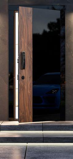 Art Deco Door, Wooden Main Door Design, Visual Aesthetics, Composite Door, Modern Door, Entrance Doors, Door Handles, Modern Design, Interior Design