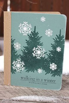 In The Meadow Revisited - Winter Wonderland Card by Heather Nichols for Papertrey Ink (December 2012)