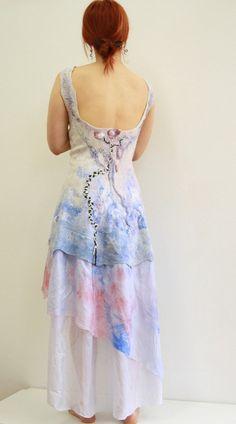 Alternative wedding dress Bohemian wedding dress by hedgiefelt