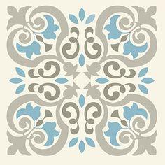Stencil Patterns, Stencil Designs, Tile Patterns, Stencils, Tile Art, Tiles, Ceramic Painting, Islamic Art, Pattern Wallpaper