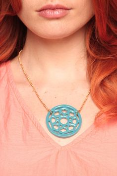 Lucite Medallion...also comes in white, black, coral and tortoise!