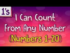 Practice counting on by I give a lower number to start from and then you count on by for the next five numbers. Practice counting on by and give. Counting Songs, Math Songs, Counting To 20, Kids Songs, Jack Hartmann, Number Song, Go Math, Alphabet Songs, School Videos