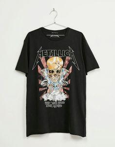 … Rock Shirts, Cool T Shirts, Band T Shirts, Mode Outfits, Fashion Outfits, Tomboy Outfits, Geek Fashion, Grunge Outfits, Lolita Fashion