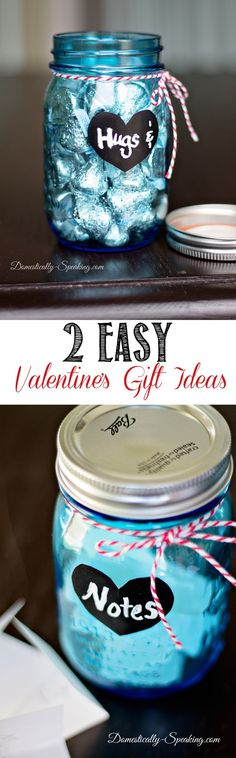 2 Easy Mason Jar Valentine's Gift Ideas