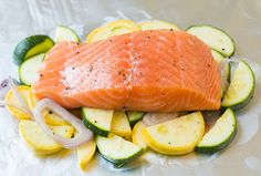 Salmon and Summer Veggies in Foil | Cooking Classy - omit nightshades and pepper for AIP