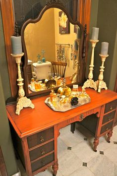 My vintage Vanity with renewed Style....Pine Creek Style