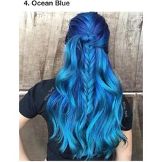 Blue Hair ❤ liked on Polyvore featuring beauty products and haircare