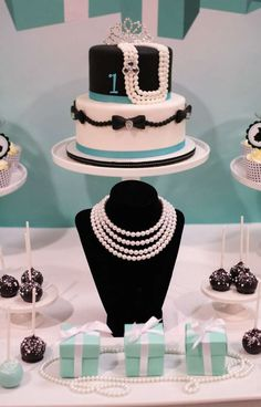 Gorgeous Tiffany's birthday party! See more party ideas at CatchMyParty.com!