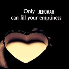 Fill your empty hearts, rid yourselves of miseries and anxieties. YHWH is who provides this possibility with the unlimited supply of nourishing spiritual food all day everyday. He is the finest comforter for all of life's woes, miseries and anxieties. No need to pretend happiness. Let YHWH show you how and let YHWH love, care, protect and provide for you.
